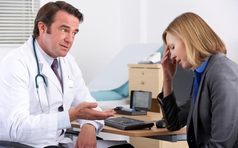 на приёму у врача