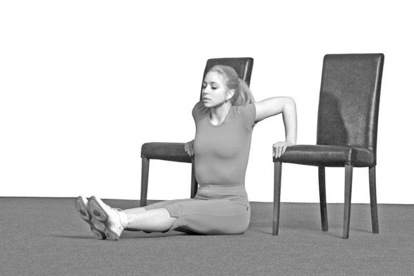 отжимание на стульях