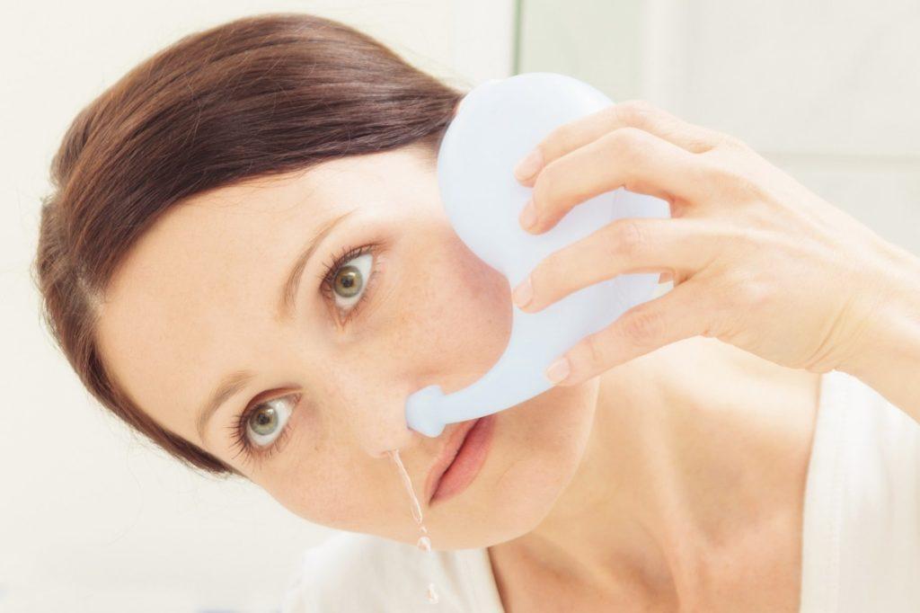 Промывать нос при гайморите